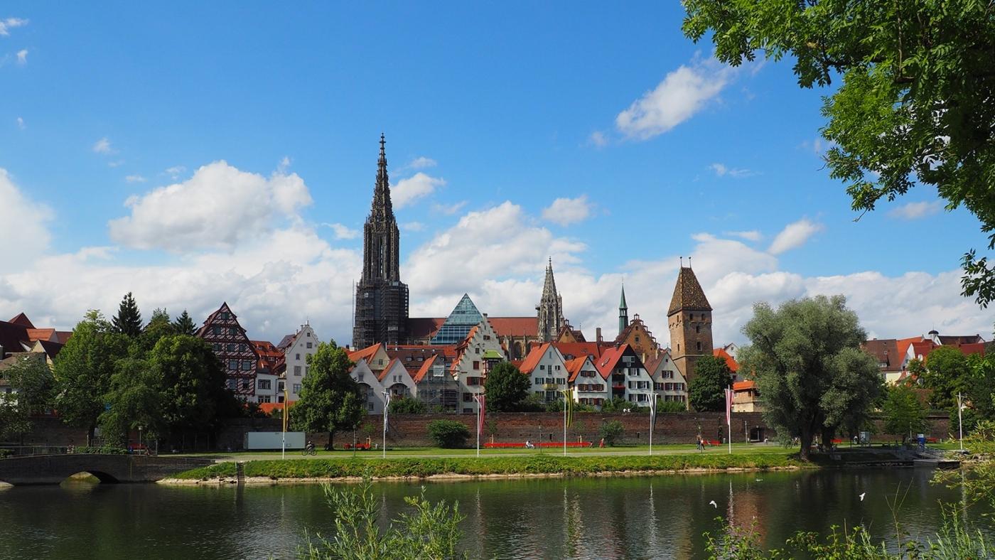 Donaublick von Neu-Ulm nach Ulm