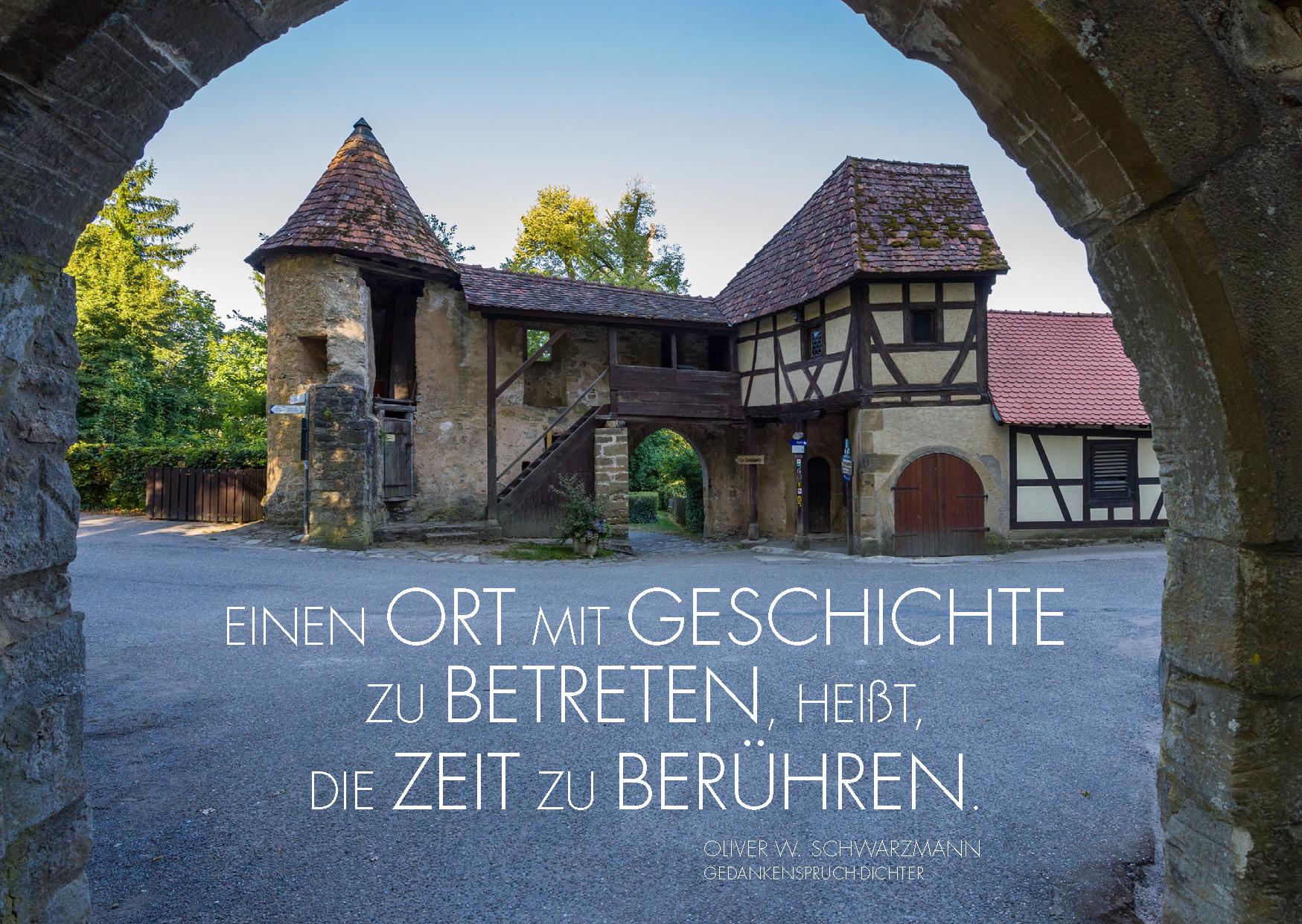 Dichter-Postkarte Burg Guttenberg