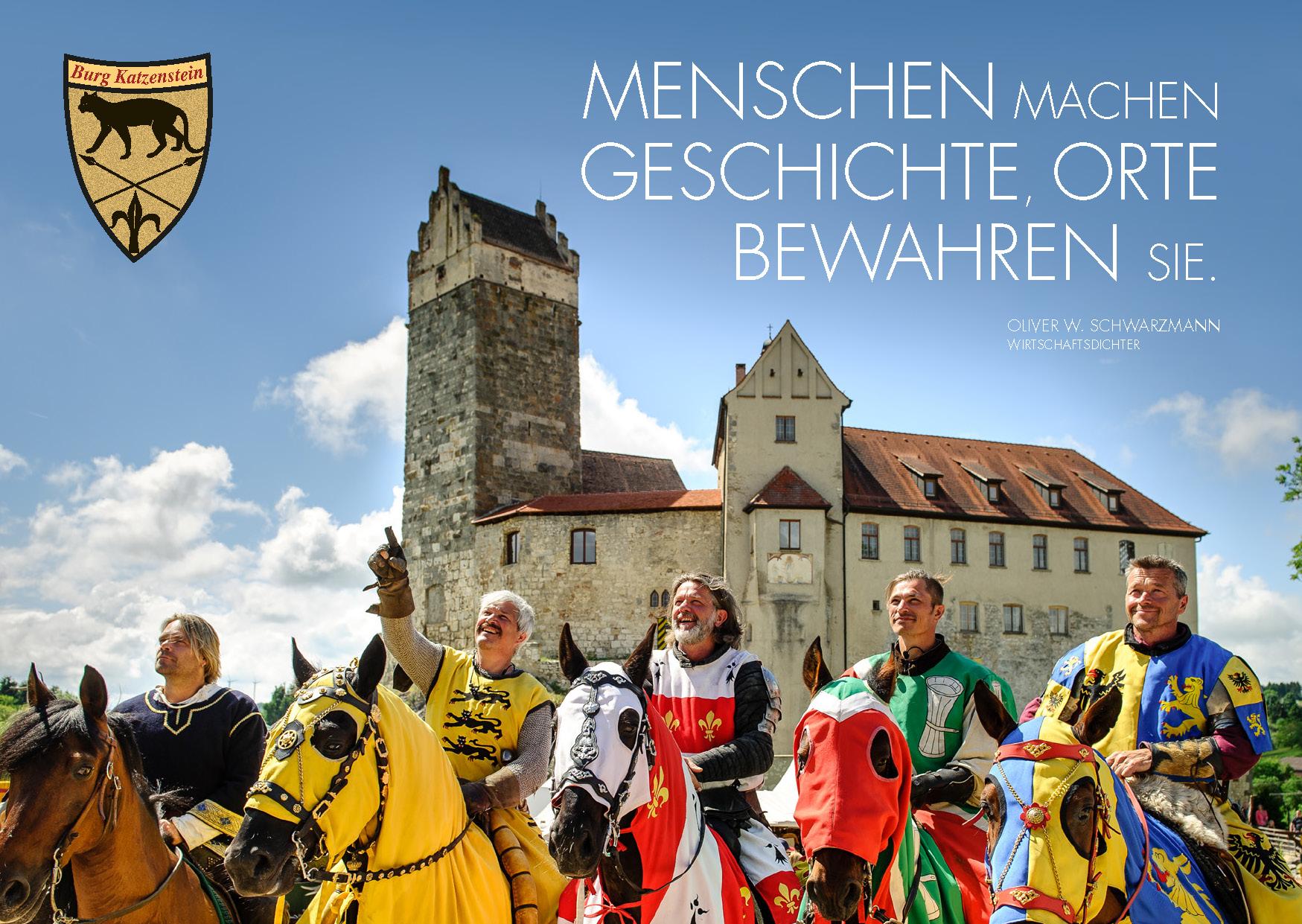 Dichter-Postkarte Burg Katzenstein
