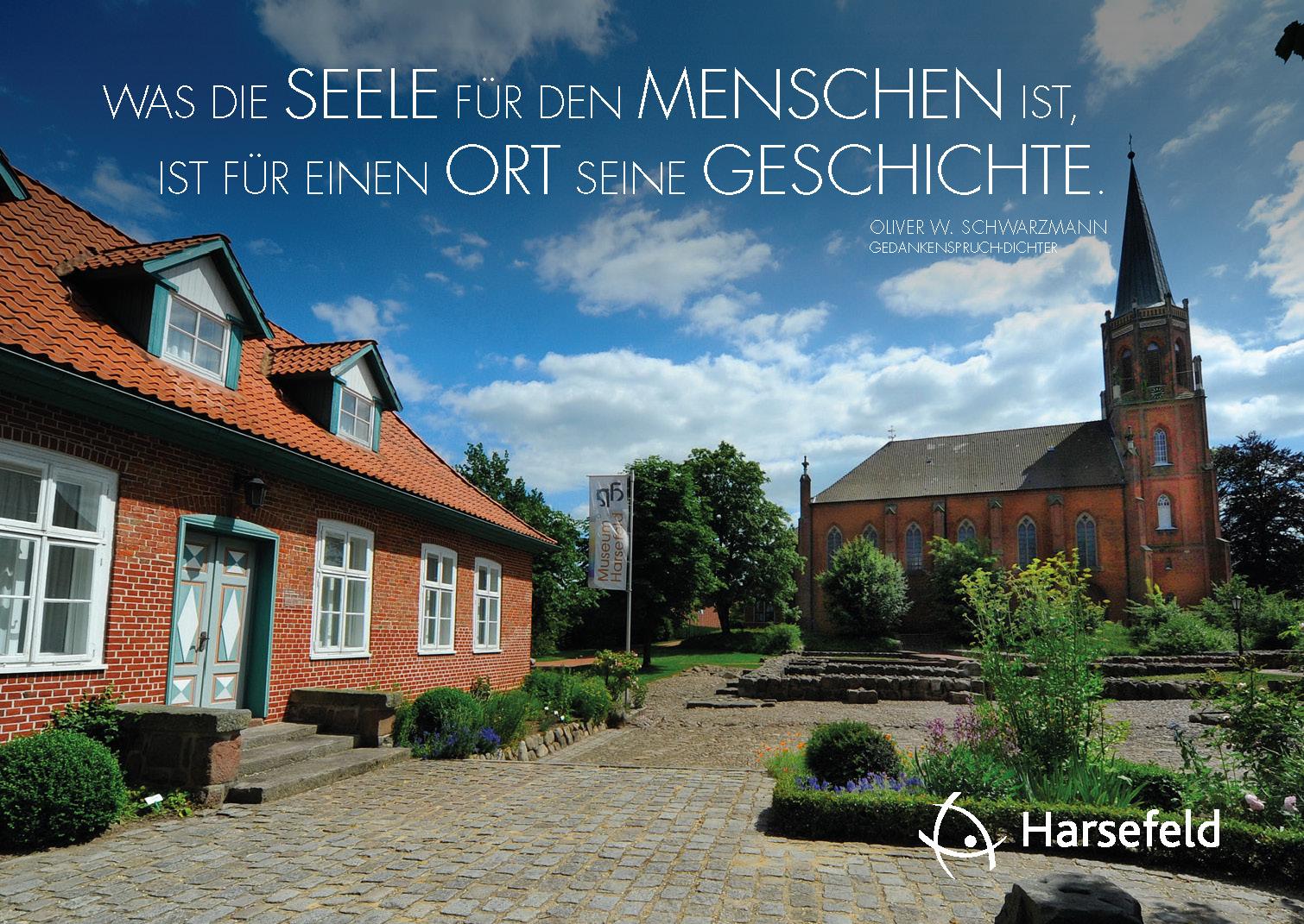 Dichter-Postkarte Harsefeld