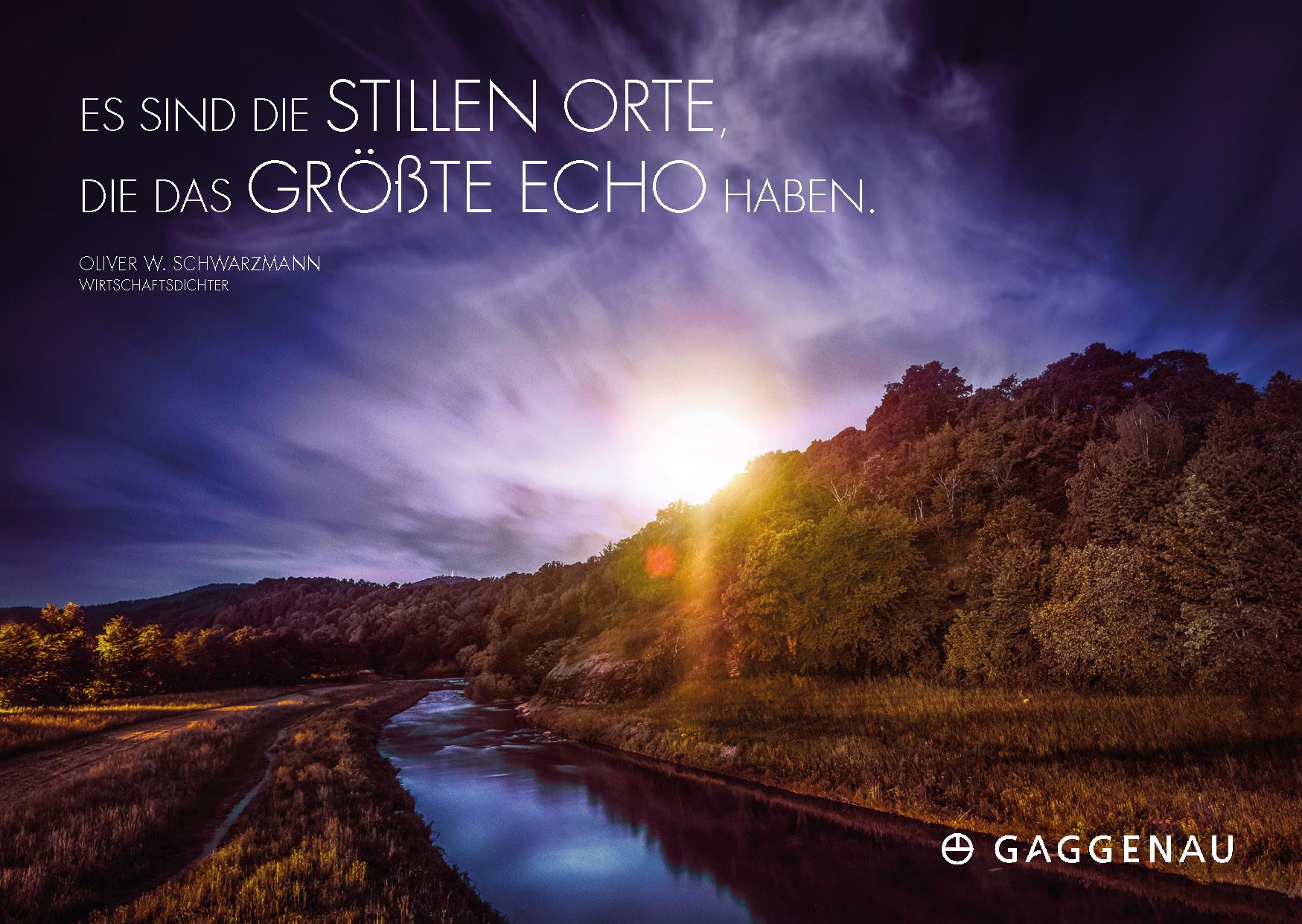 Dichter-Postkarte Stadt Gaggenau