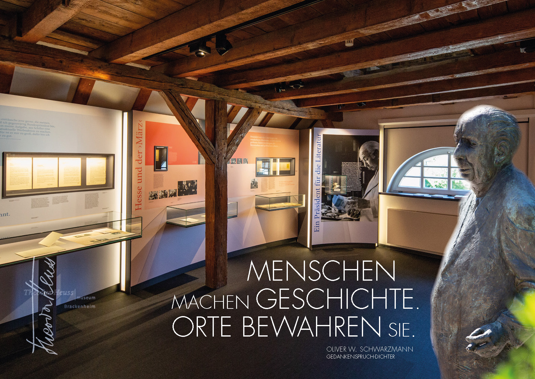 Dichter-Postkarte Theodor-Heuss-Museum Brackenheim